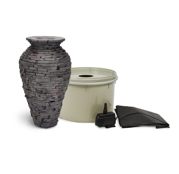 Aquascape Small Stacked Slate Urn Fountain Kit